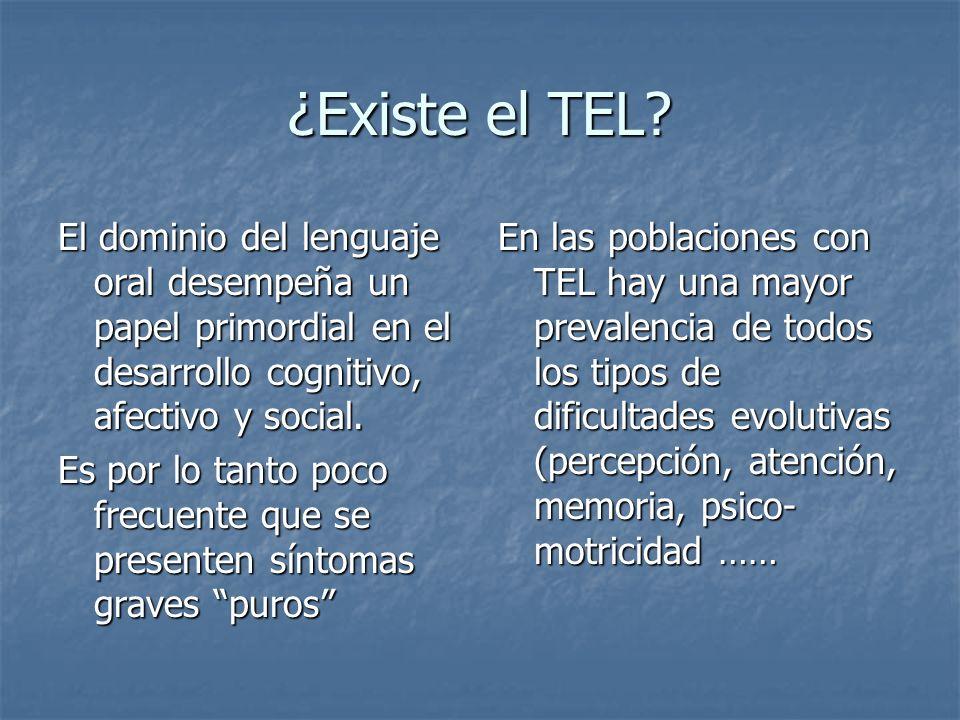 ¿Existe el TEL El dominio del lenguaje oral desempeña un papel primordial en el desarrollo cognitivo, afectivo y social.
