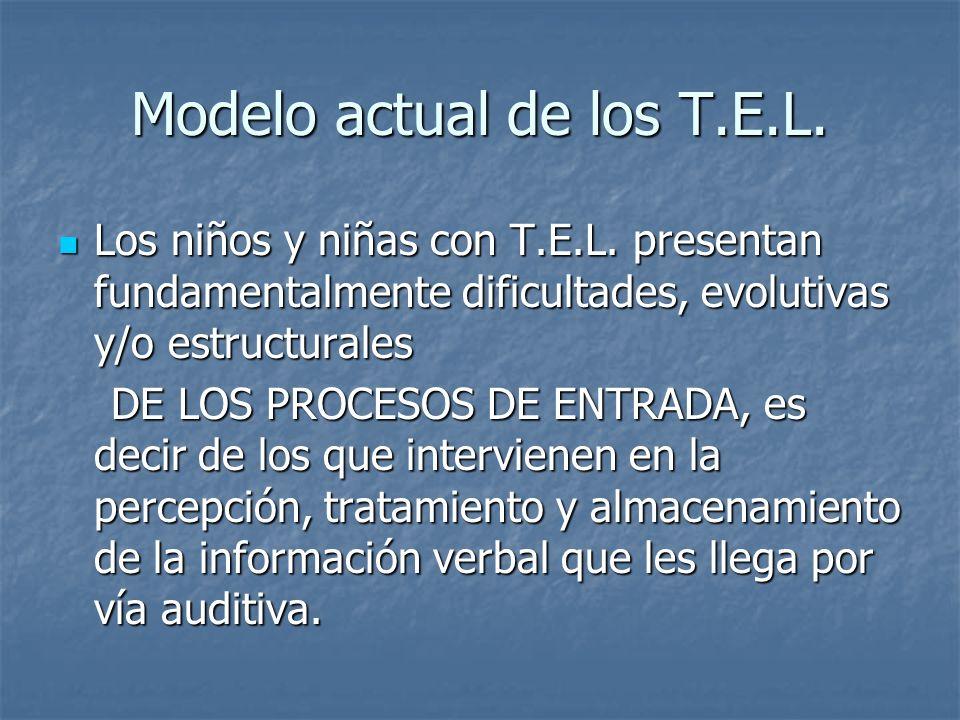 Modelo actual de los T.E.L.