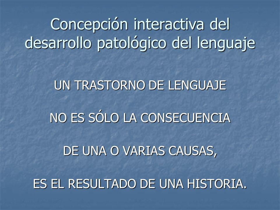 Concepción interactiva del desarrollo patológico del lenguaje