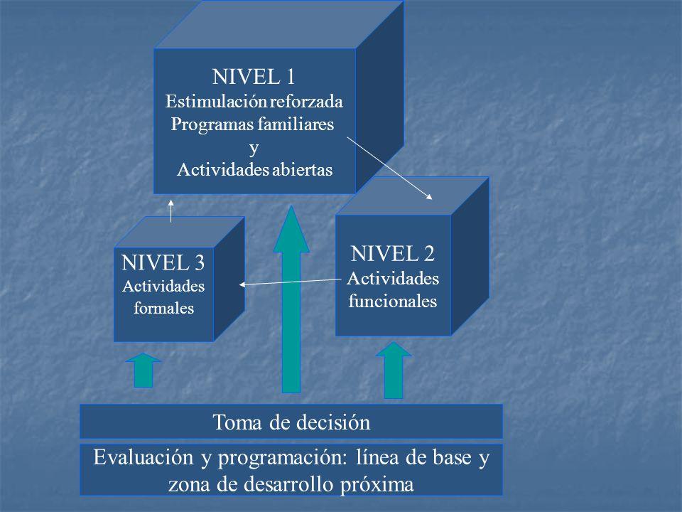 Evaluación y programación: línea de base y zona de desarrollo próxima