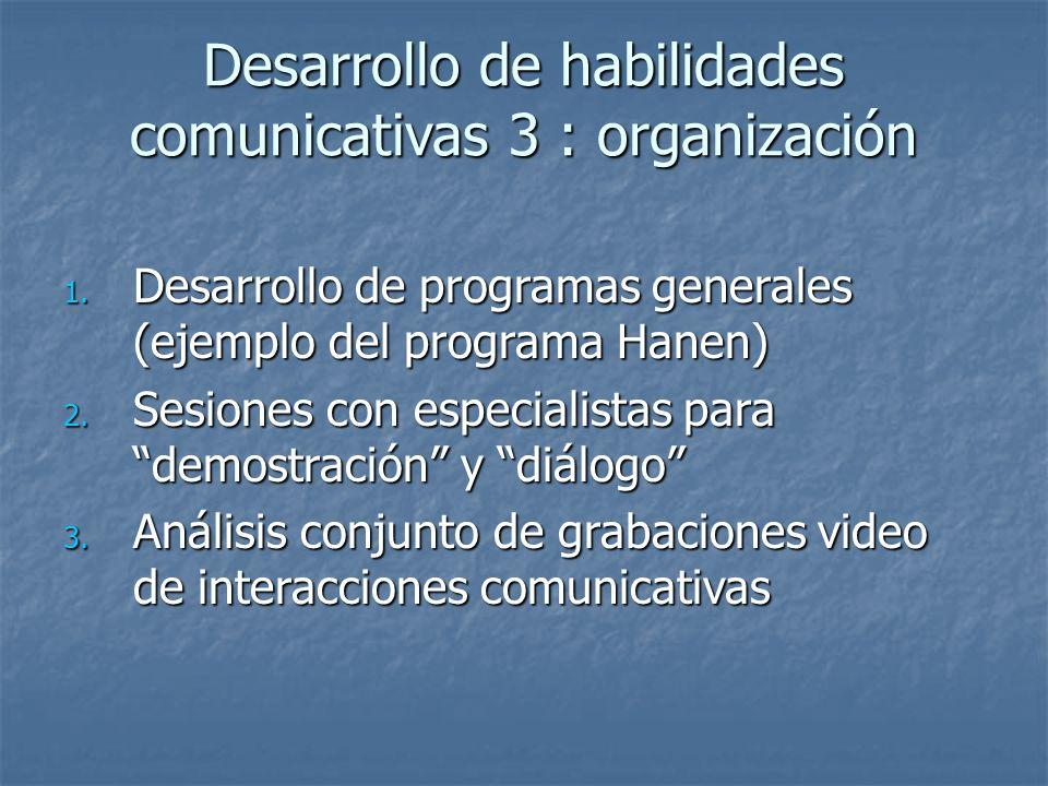 Desarrollo de habilidades comunicativas 3 : organización