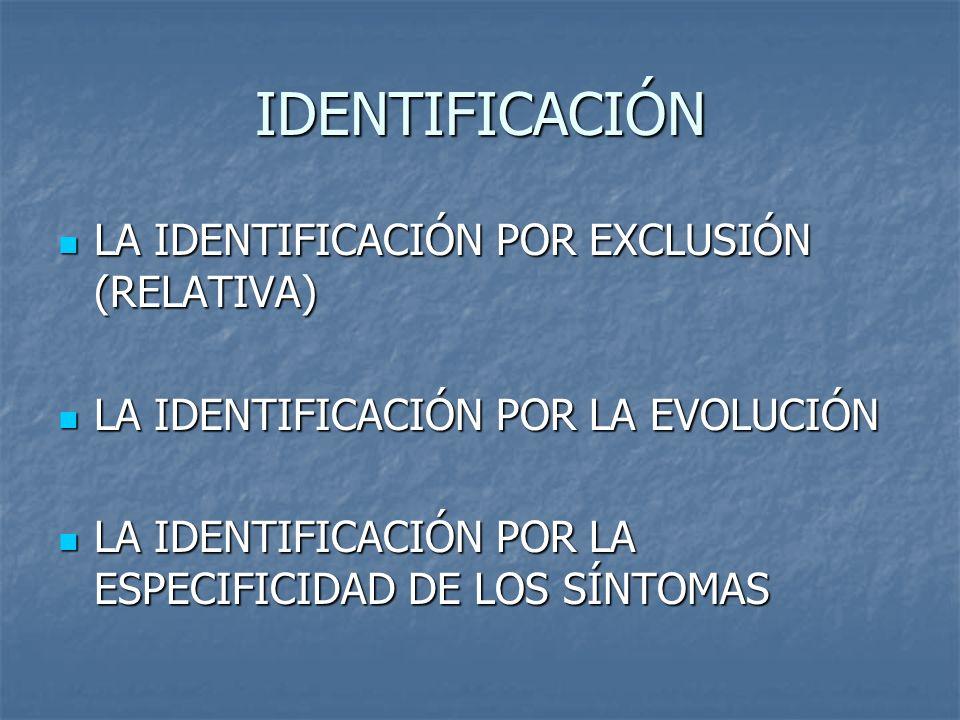 IDENTIFICACIÓN LA IDENTIFICACIÓN POR EXCLUSIÓN (RELATIVA)