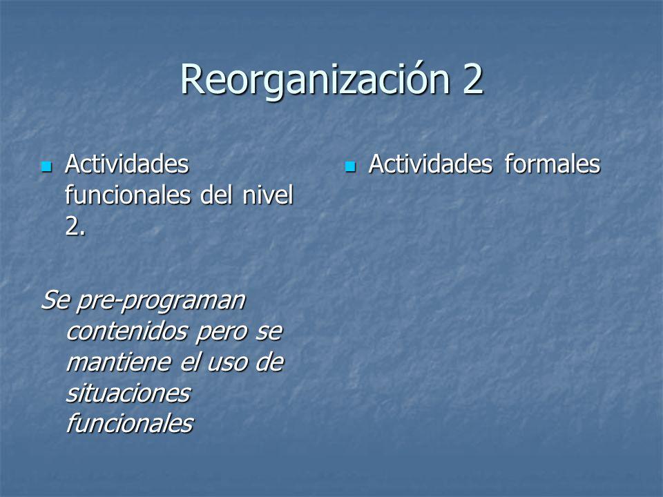 Reorganización 2 Actividades funcionales del nivel 2.