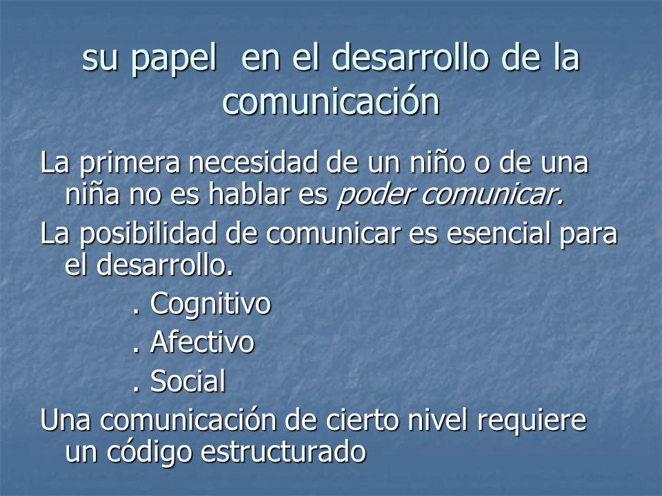 su papel en el desarrollo de la comunicación