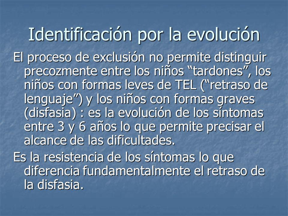 Identificación por la evolución