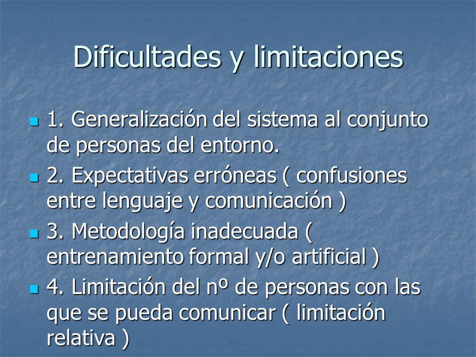 Dificultades y limitaciones