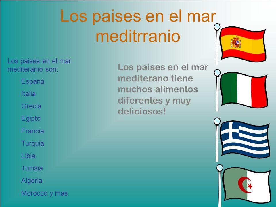 Los paises en el mar meditrranio