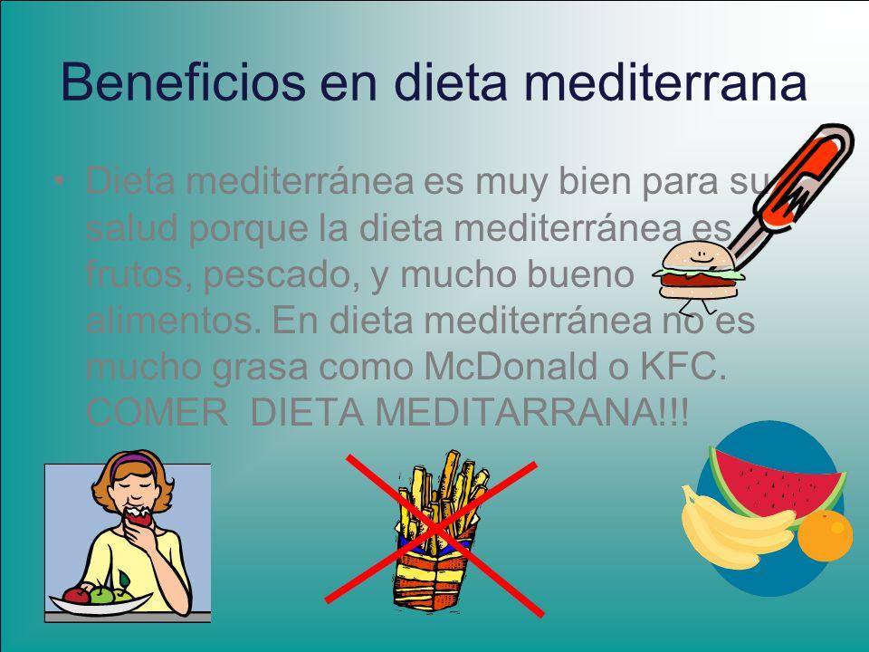Beneficios en dieta mediterrana
