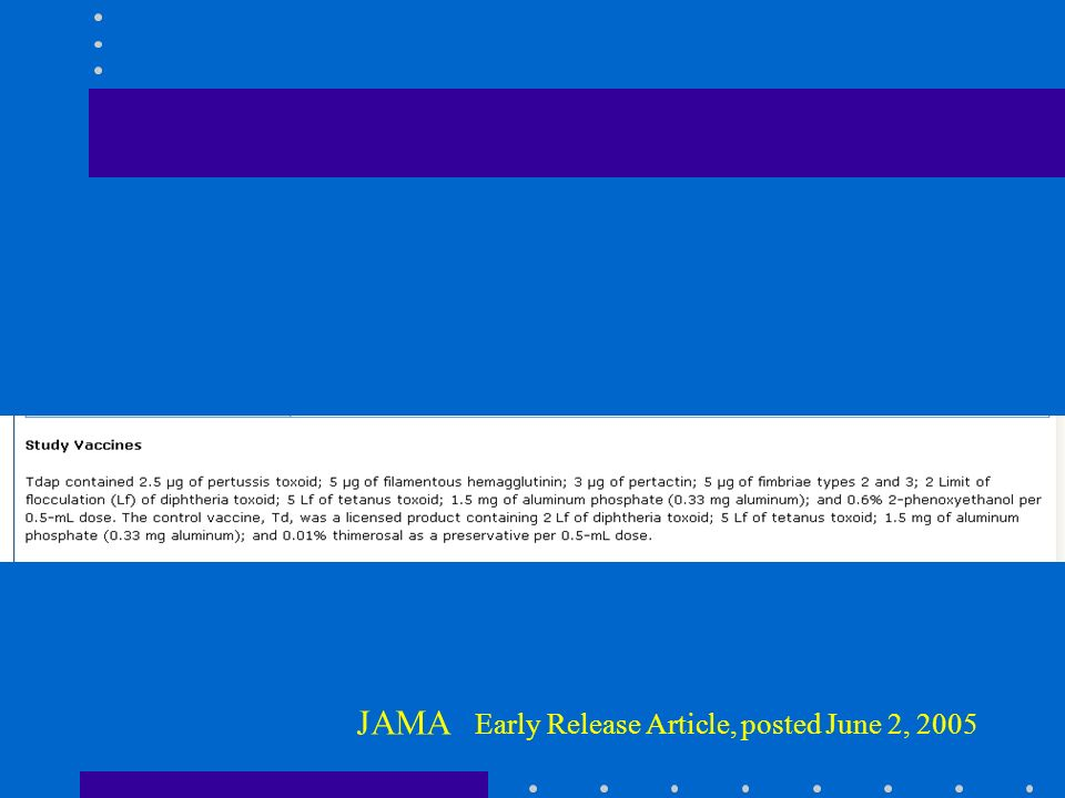 JAMA Early Release Article, posted June 2, 2005