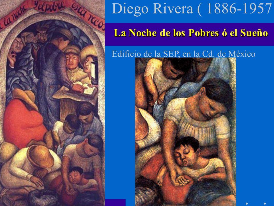 Diego Rivera ( 1886-1957 ) La Noche de los Pobres ó el Sueño