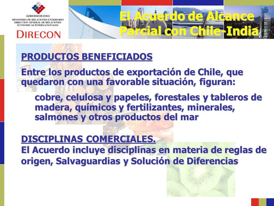 El Acuerdo de Alcance Parcial con Chile-India
