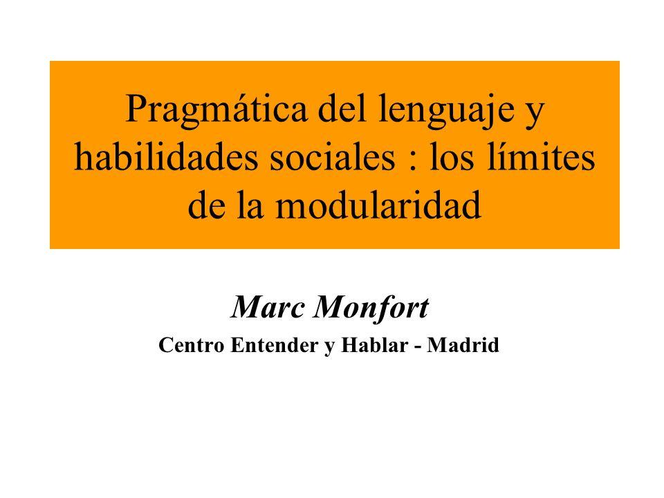 Marc Monfort Centro Entender y Hablar - Madrid