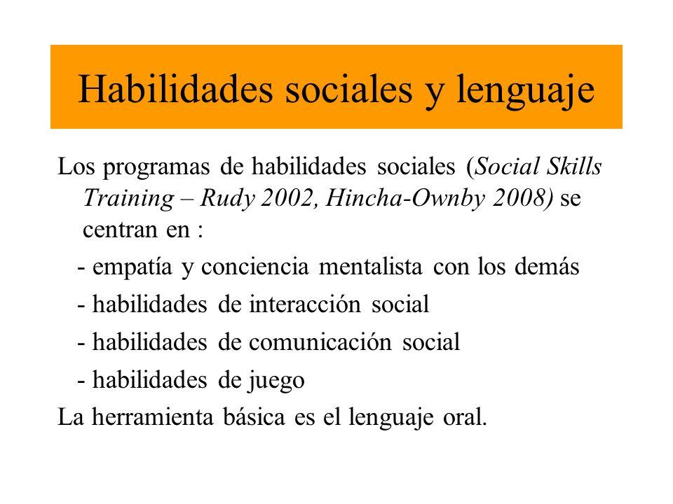 Habilidades sociales y lenguaje