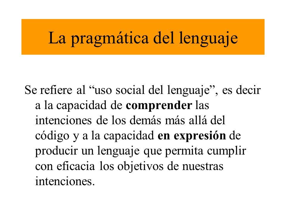La pragmática del lenguaje