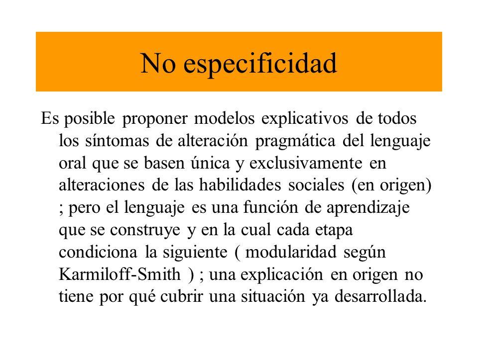 No especificidad