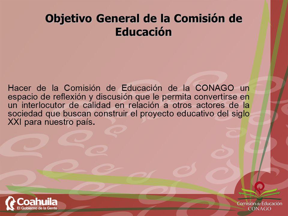 Objetivo General de la Comisión de Educación