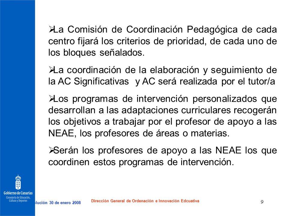 Dirección General de Ordenación e Innovación Edcuativa