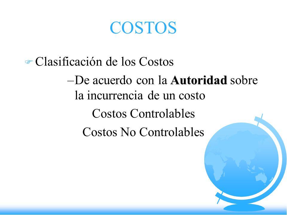 Costos No Controlables