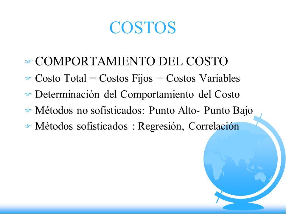 COSTOS COMPORTAMIENTO DEL COSTO