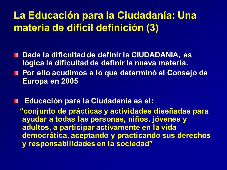 La Educación para la Ciudadanía: Una materia de difícil definición (3)
