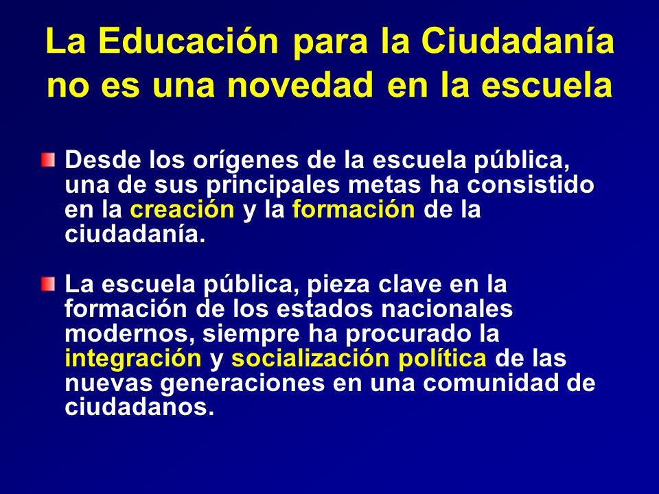 La Educación para la Ciudadanía no es una novedad en la escuela