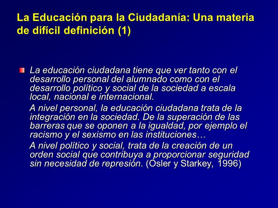 La Educación para la Ciudadanía: Una materia de difícil definición (1)