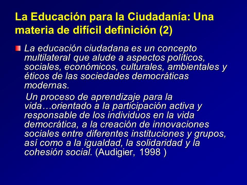 La Educación para la Ciudadanía: Una materia de difícil definición (2)