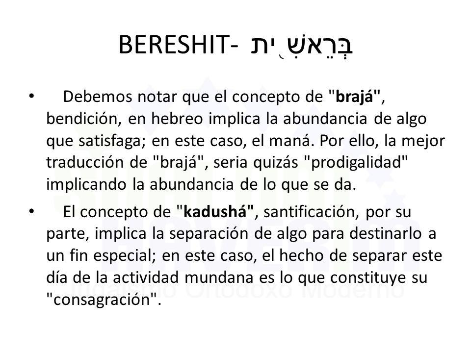 BERESHIT- בְּרֵאשִׁ֖ית