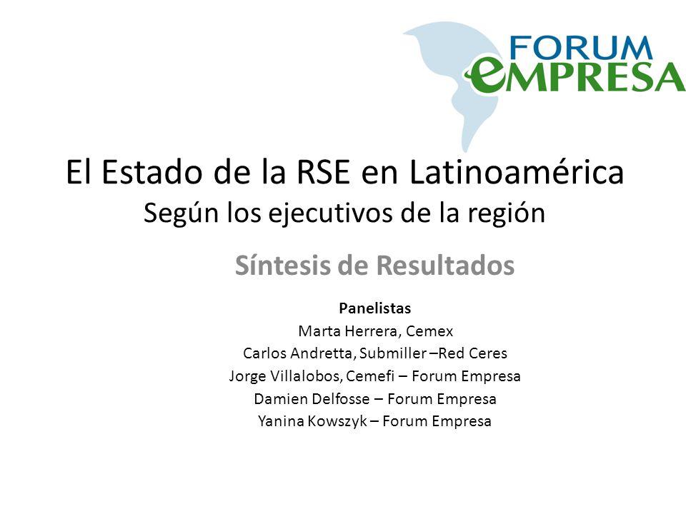 El Estado de la RSE en Latinoamérica Según los ejecutivos de la región