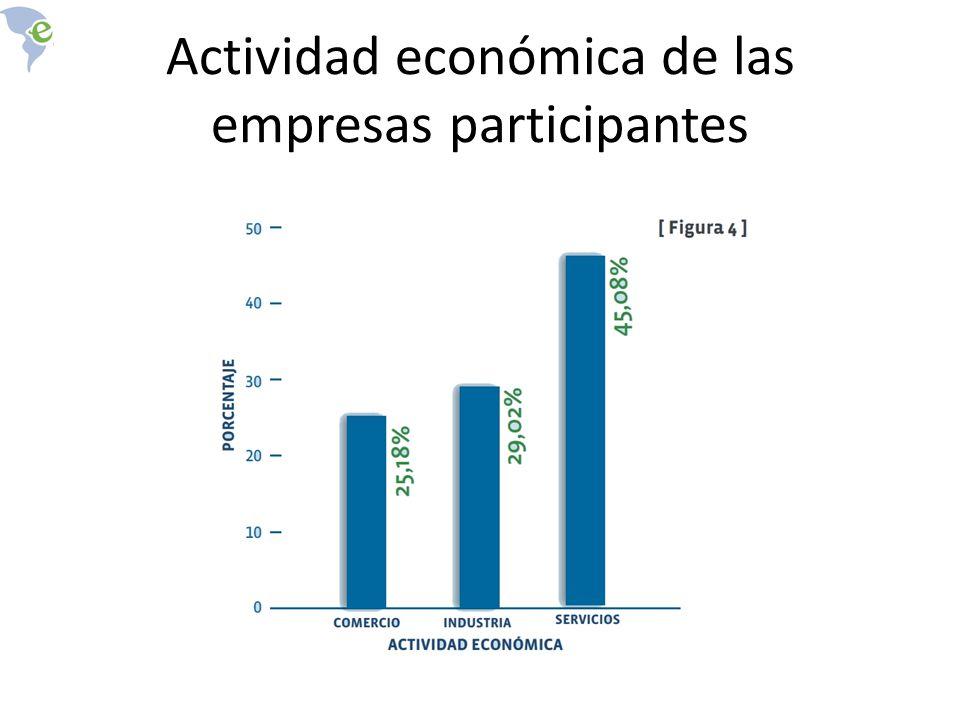 Actividad económica de las empresas participantes