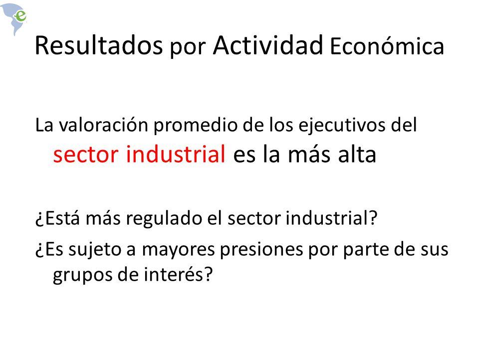 Resultados por Actividad Económica