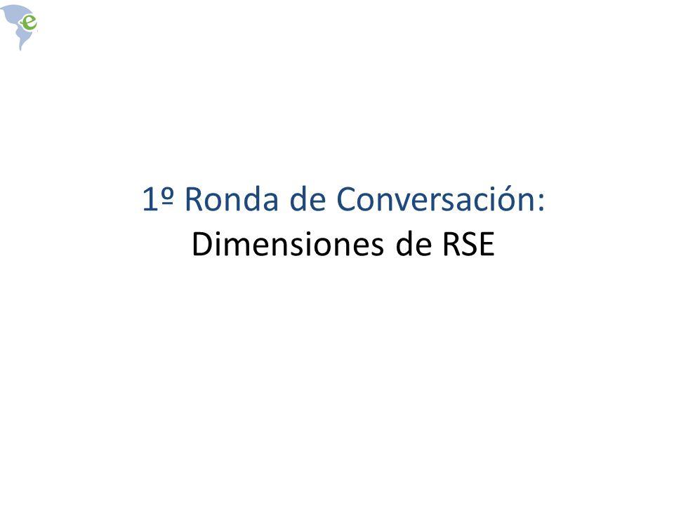 1º Ronda de Conversación: Dimensiones de RSE
