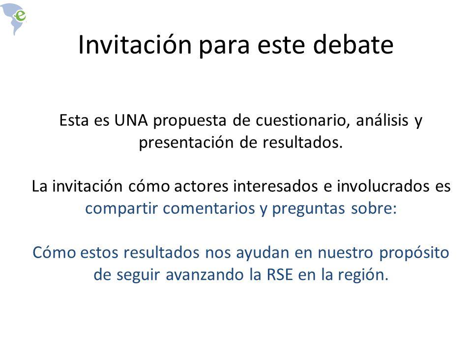 Invitación para este debate