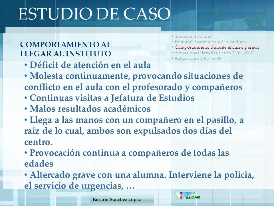 ESTUDIO DE CASO Déficit de atención en el aula