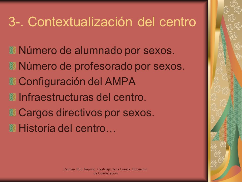 3-. Contextualización del centro