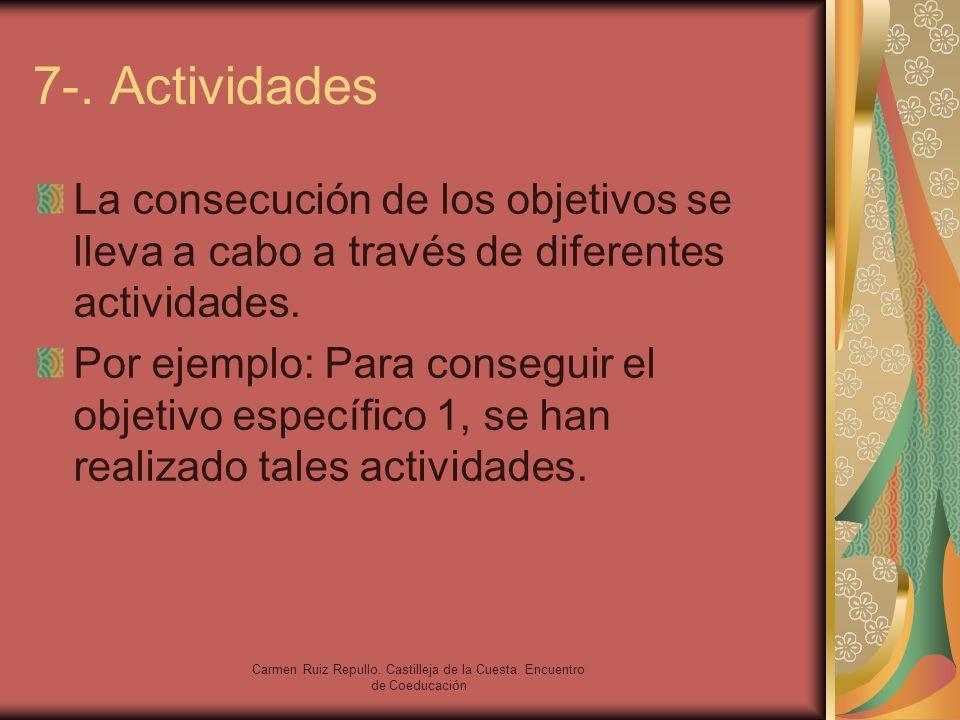 Carmen Ruiz Repullo. Castilleja de la Cuesta. Encuentro de Coeducación