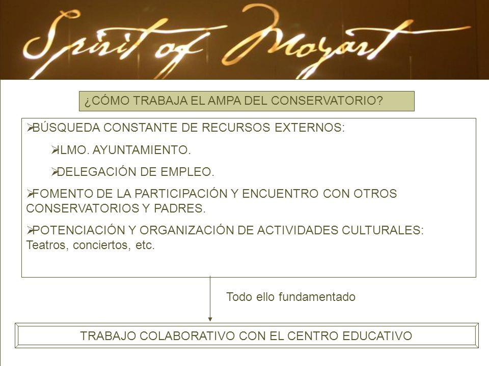 TRABAJO COLABORATIVO CON EL CENTRO EDUCATIVO