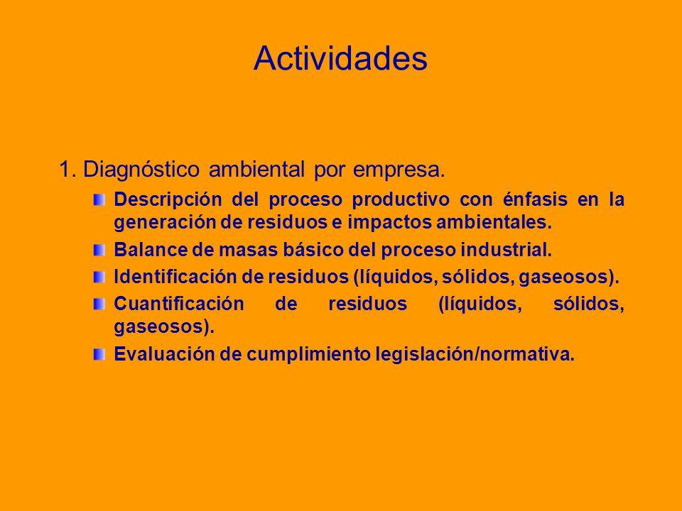 Actividades 1. Diagnóstico ambiental por empresa.