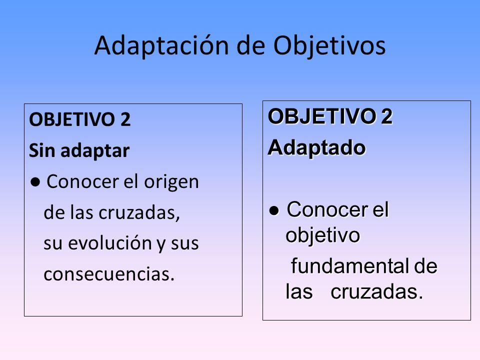 Adaptación de Objetivos