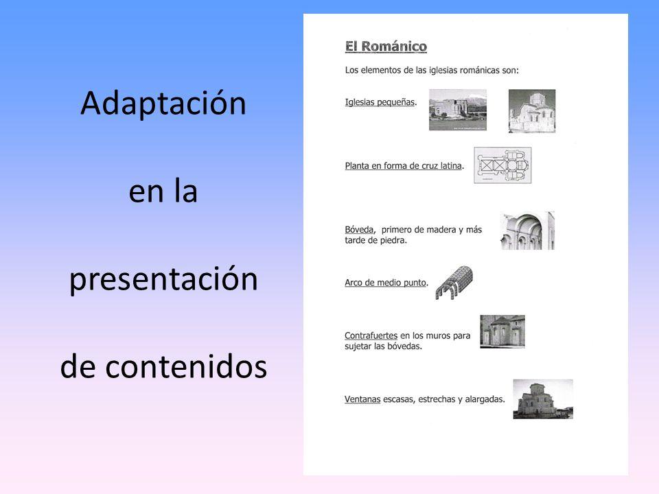 Adaptación en la presentación de contenidos 7