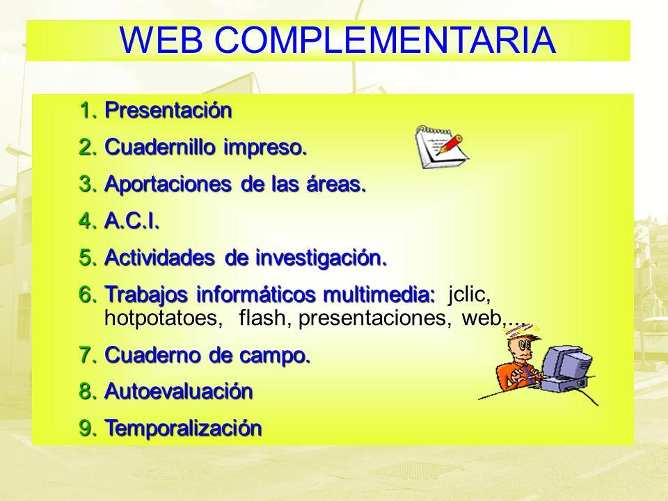 WEB COMPLEMENTARIA Presentación Cuadernillo impreso.