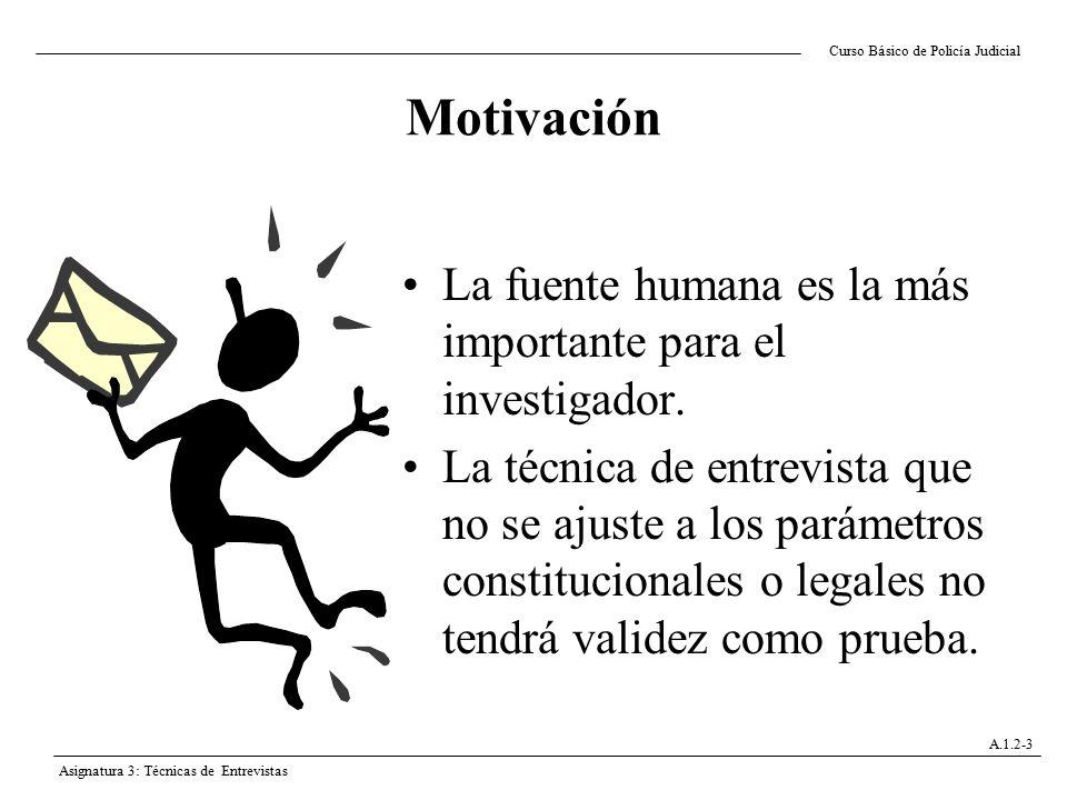 Motivación La fuente humana es la más importante para el investigador.