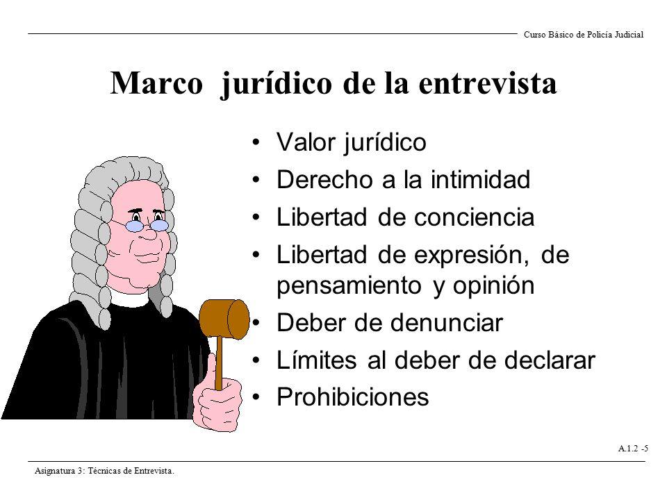 Marco jurídico de la entrevista