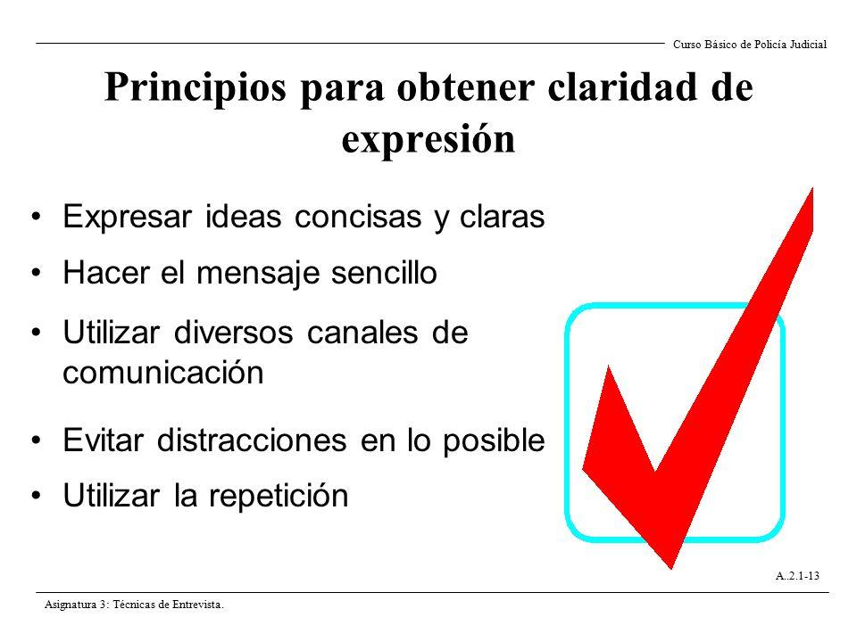 Principios para obtener claridad de expresión