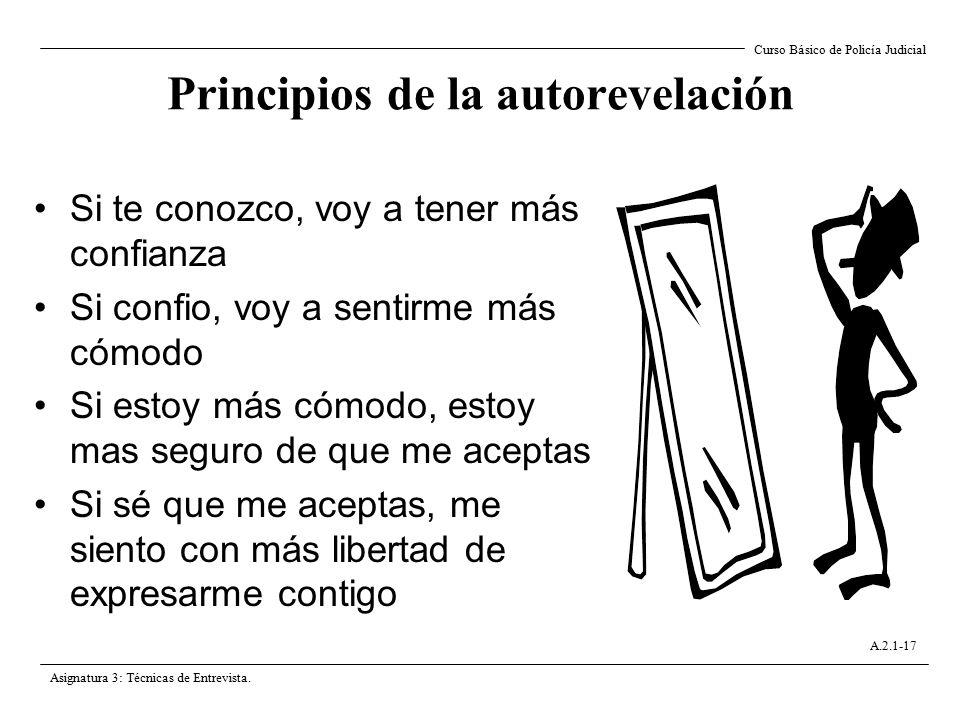 Principios de la autorevelación