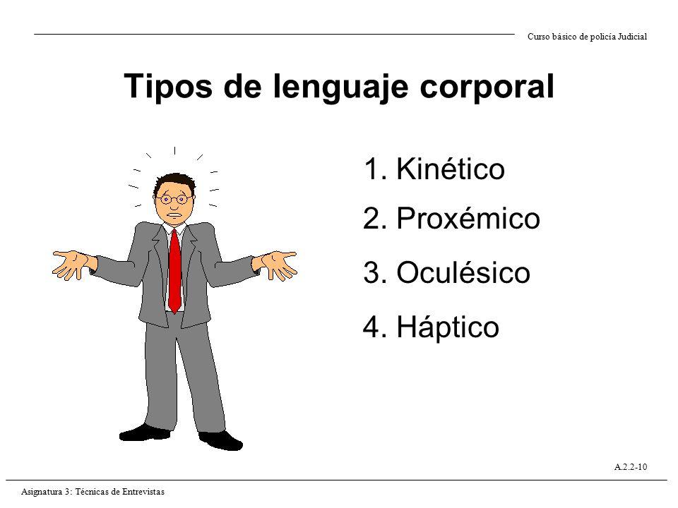 Tipos de lenguaje corporal