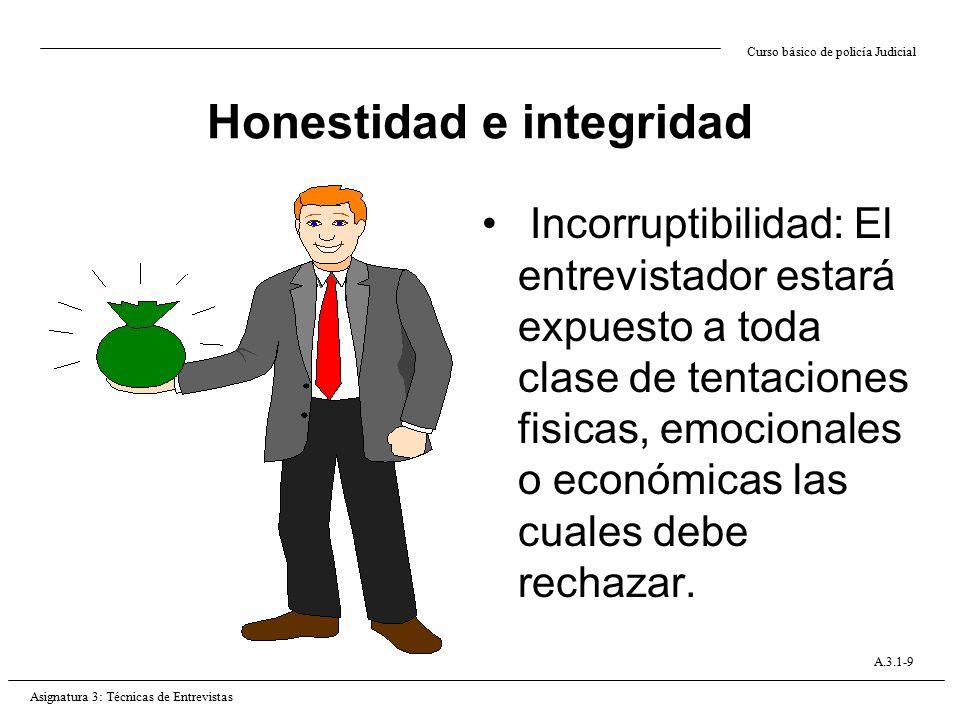 Honestidad e integridad