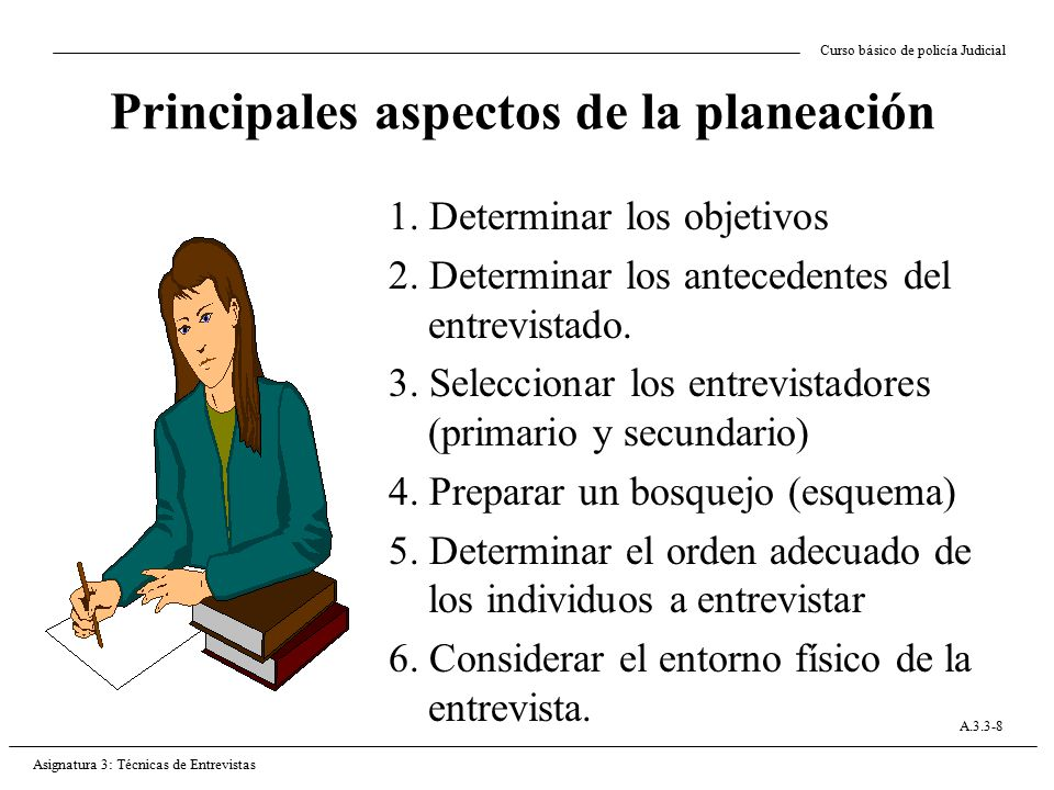 Principales aspectos de la planeación
