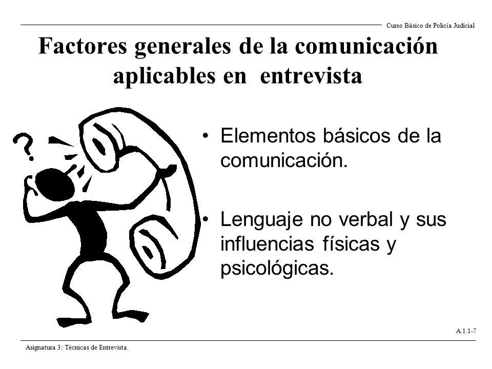 Factores generales de la comunicación aplicables en entrevista