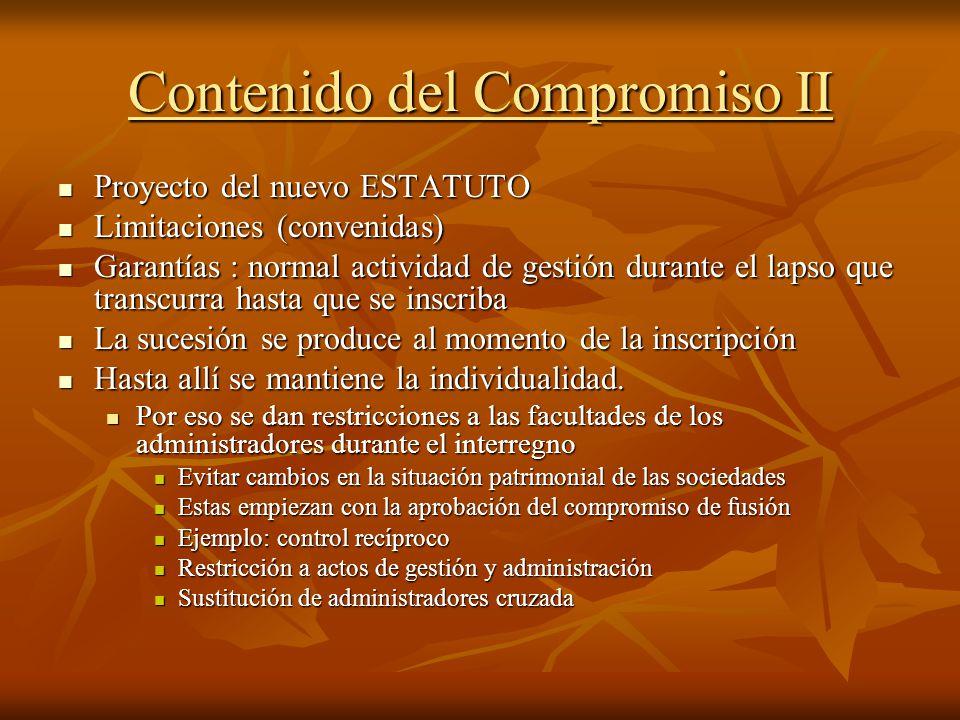 Contenido del Compromiso II
